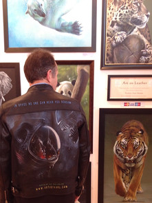 Karl with his Art On Leather
