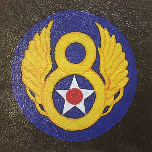 8th Air Force handpainted leather patch