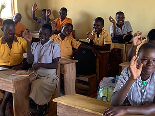 Gumo ghana education school building classroom pupils overseas charity Clive and Sylvia Richards