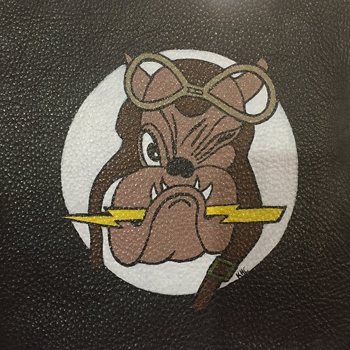 61st Fighter Squadron handpainted leather patch