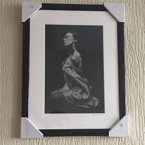 Silk Lady signed framed mounted print