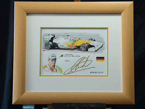Adrian Sutil painting with his original autograph