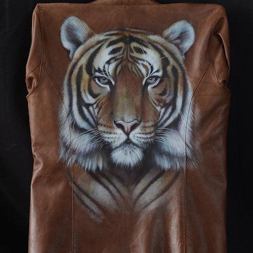Tiger leather jacket