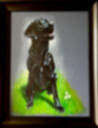 dog pet portrait commission artist karl UK based
