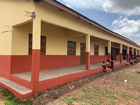 Gumo education classroom school teaching Ghana building overseas
