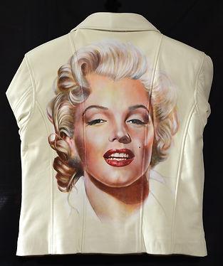 Marilyn Munroe portrait by Karl Hamilton-Cox the Leatherman