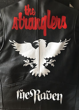 Stranglers The Raven album cover fan art custom unique one off painted leather jacket
