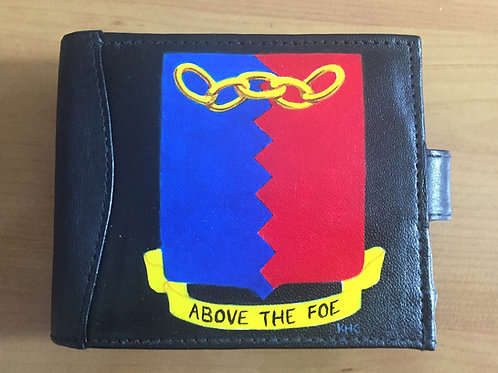 78th Fighter Group handpainted black leather wallet