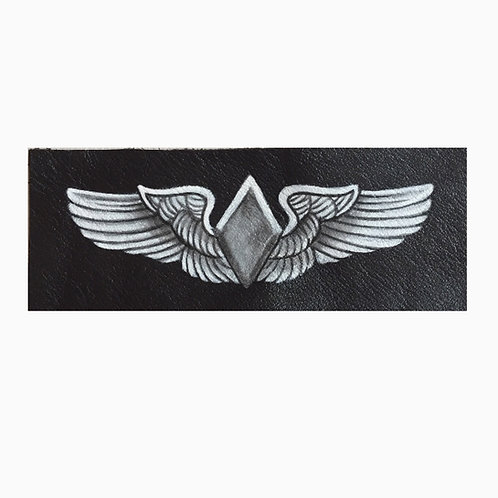 W.A.S.P. Wings handpainted leather patch