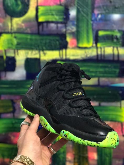 LIME GREEN Jordan 11's