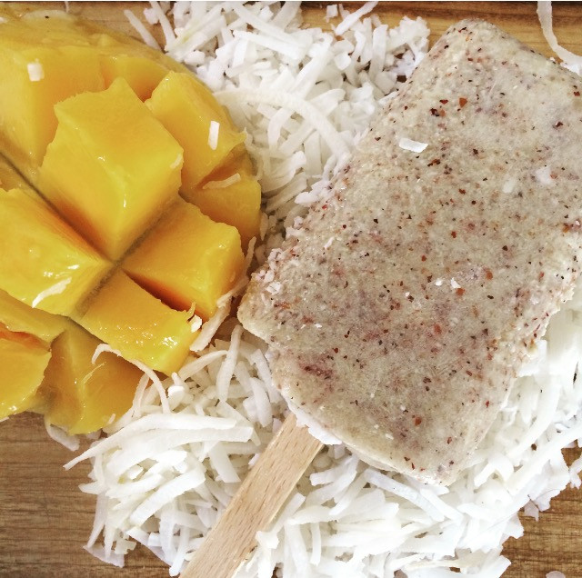 Coconut, Mango, Banana & Quinoa Ice Blocks