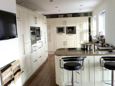 Modern Cream Kitchen with Integrated Appliances