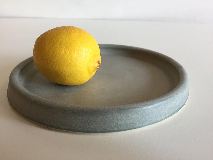 Grey shallow dish - small