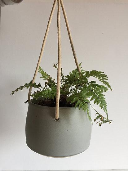 Grey hanging pot