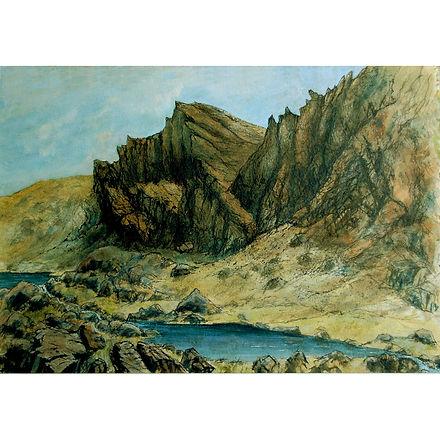 Clogwyn Cliff and Llyn du'r Arddu  colou