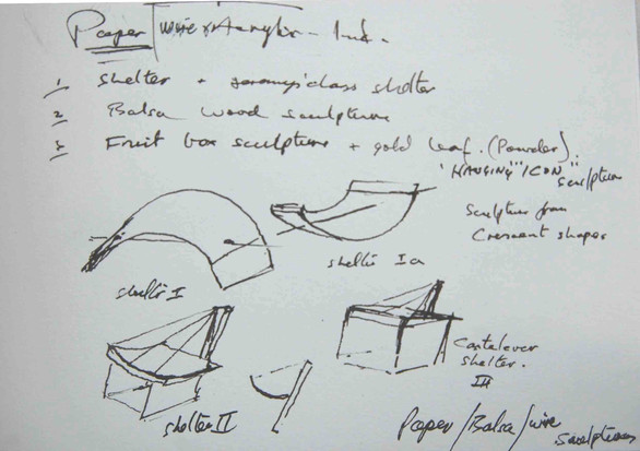 Sketches for Paper Sculptures
