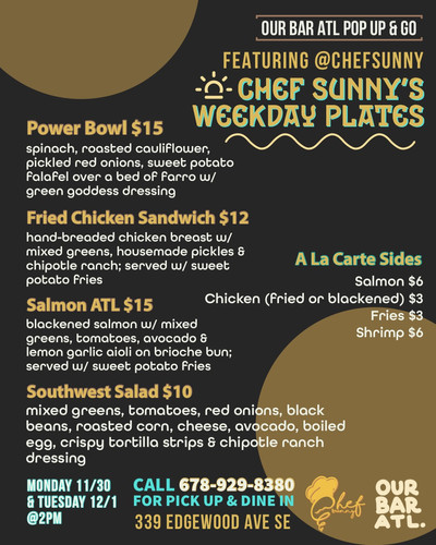 Chef Sunny's Weekday Plates!