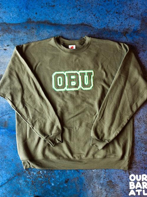 (XL) OBU - Cream + Green, Gold