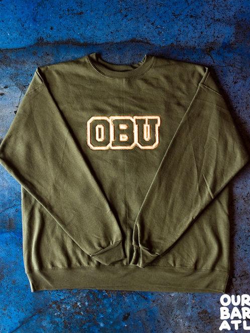 (XL) OBU - Cream + Blue, Green