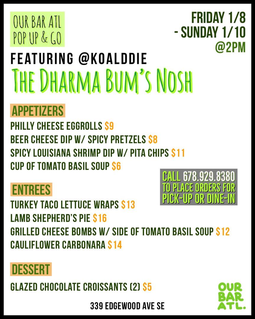 "Chef Brad's ""The Dharma Bum's Nosh"" Pop-Up!"