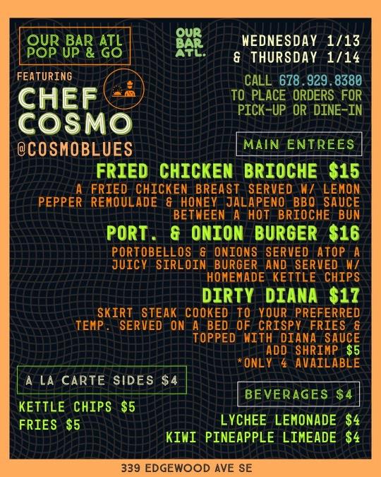 Chef Cosmo's Kitchen Pop-Up!