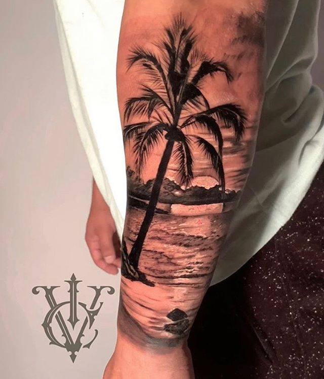 With a beach tattoo like this you'll alw