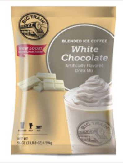 Big Train Blended Ice Coffee - White Chocolate Latte, Case of 5 ct./ 3.5 lbs. ea