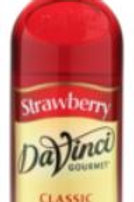 DaVinci Gourmet Classic Syrup - Strawberry, Case of 6/Plastic