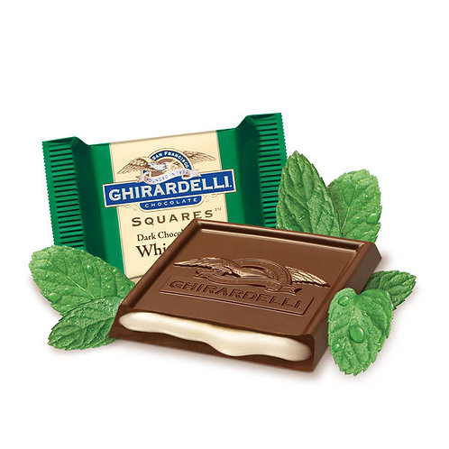 Dark Chocolate with White Mint Squares, 120 ct.