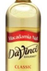 DaVinci Gourmet Classic Syrup - Macadamia Nut, Case of 12/Glass
