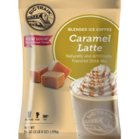 Big Train Blended Ice Coffee - Caramel Latte, Case of 5 ct./3.5 lbs. ea.
