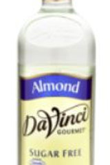 DaVinci Gourmet Sugar Free Syrup - Almond, Case of 6/Plastic