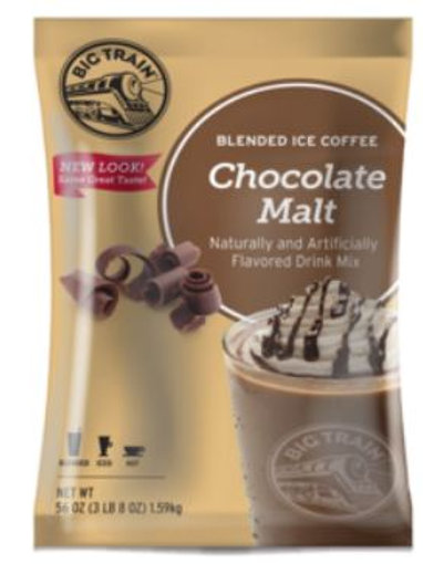 Big Train Blended Ice Coffee - Chocolate Malt, Case of 5 ct./3.5 lbs. ea.