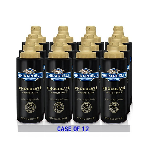 Black Label Chocolate Sauce, Squeeze Bottle Case, 12 ct./16 oz. ea.