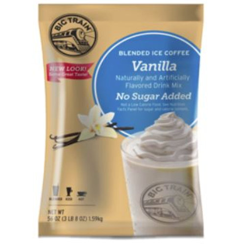 Big Train Blended Ice Coffee-No Sugar Added Vanilla Latte, Case of 5 ct./3.5 lbs