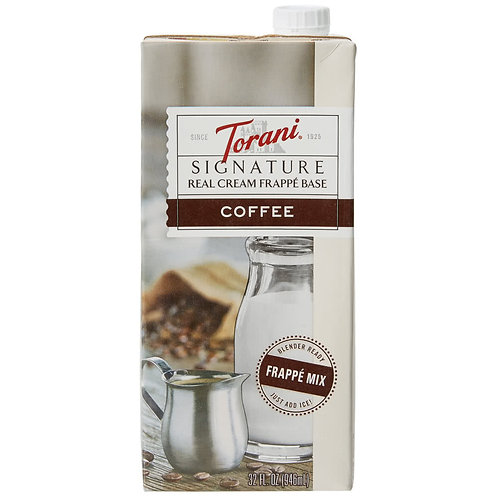 Torani Signature Coffee Real Cream Frappe Base