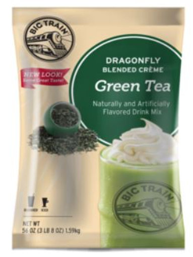 Big Train Blended Iced Crème Frappe-Dragonfly Green Tea, Case of 5 ct/3.5 lbs ea