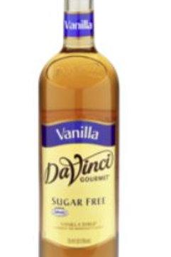 DaVinci Gourmet Sugar Free Syrup - Vanilla, Case of 6/Plastic