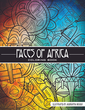 Faces Of Africa - Coloring book