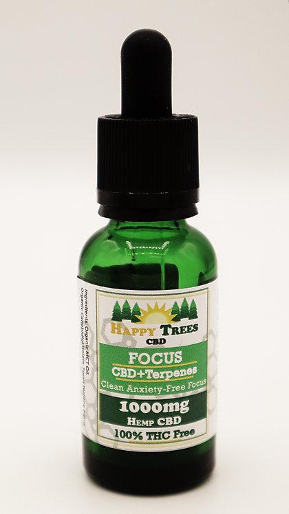 CBD Tincture + Terpenes: Focus - 1000mg