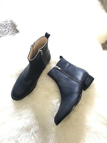 JESS Leather Zipper Boots