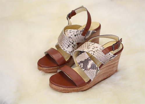 LIZZY Leather Wedges