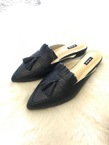 PAIGE Leather Flat slip On