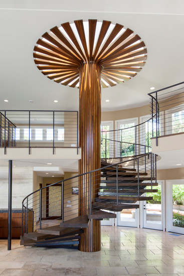 Wood (Milled) Stair Column & Stairs