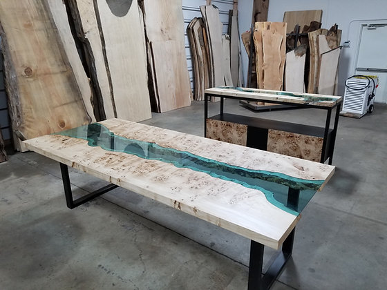 Mappa and Glass Console and Table