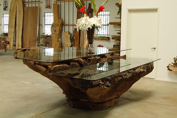 Walnut Root Reception Desk