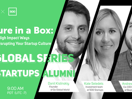 Culture in a Box: Low Effort, High Impact Ways to Prevent Disrupting Your Startup Culture.