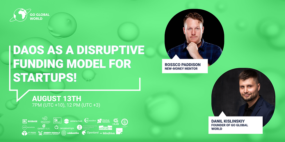 DAOs as a disruptive funding model for startups
