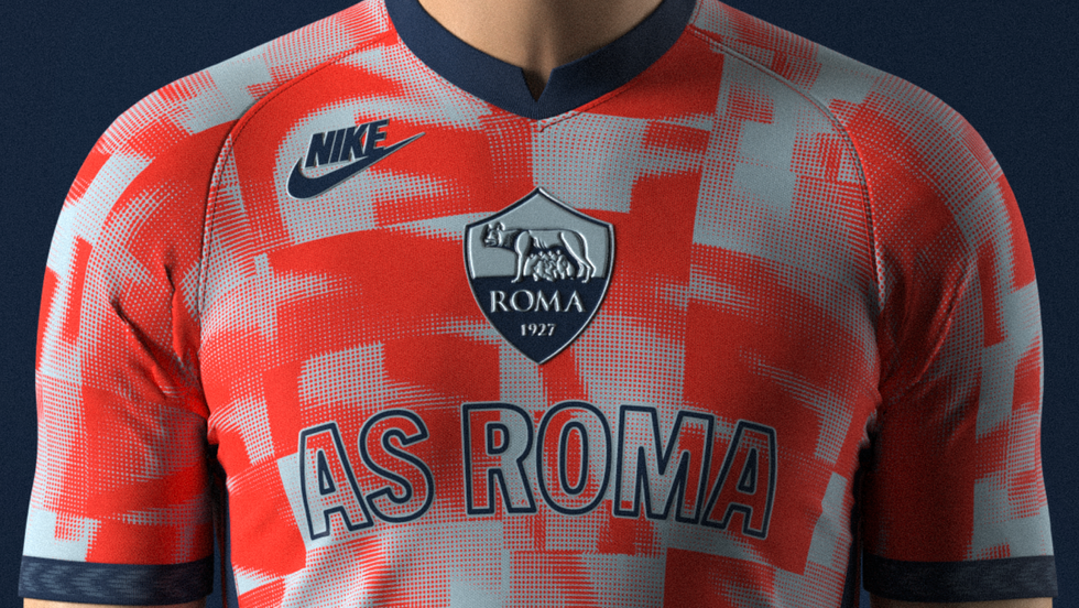 AS Roma Pre-match jersey