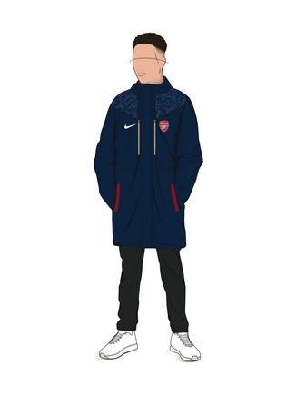 Arsenal Long Rainjacket